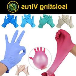 100pcs latex rubber disposable mechanic nitrile gloves
