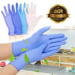 100pcs Nitrile Gloves Disposable Food Grade Powder Free Late