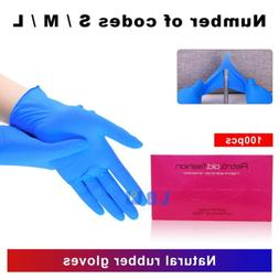 100pcs premium nitrile blue rubber cleaning gloves