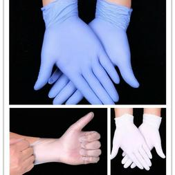 100PCS Sanitary Safety Nitrile Mechanic Disposable Rubber Gl