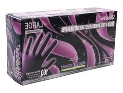 10boxes. Adenna SHADOW Nitrile PF exam gloves. Sz: LARGE, Bl