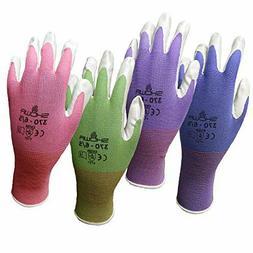 12 Pack Showa Atlas NT370 Nitrile Garden Gloves - Medium