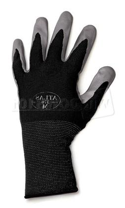 12 Pairs Black Atlas Showa 370 Nitrile Gloves Garden Auto Wo