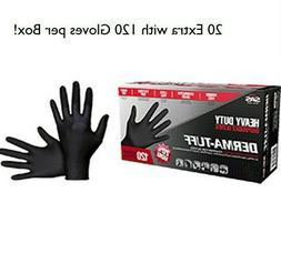 120-1200 SAS Safety Derma-Tuff  Black Nitrile Gloves- 6mil 1