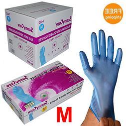 Sunnycare #7402 1000/1case Blue Vinyl Gloves Powder Free  Me