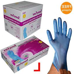 Sunnycare #7403 1000/1case Blue Vinyl Gloves Powder Free  La