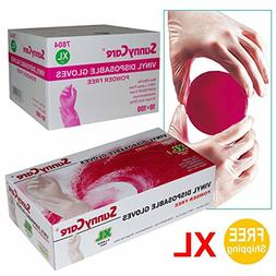 Sunnycare #7804 1000/1cases Vinyl Disposable Gloves Powder F