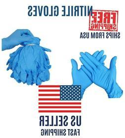 2/10/20/100pcs Nitrile Gloves Blue Powder & Chemical Free