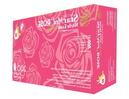 2  Boxes Of 200 StarMed Rose Nitrile Exam Glove w Aloe Size