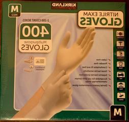 2 Pack of Kirkland Signature Nitrile Exam Gloves - 400 CT -