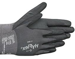 2 pair Ansell HyFlex 11-840 or 841 Foam Nitrile Gloves Size