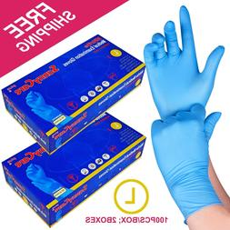 200 /2boxes Blue Nitrile Medical Exam Gloves Powder Free  LA