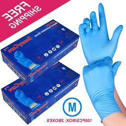 200 /2boxes Blue Nitrile Medical Exam Gloves Powder Free MED