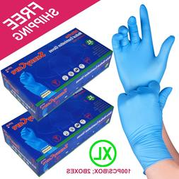 200 /2boxes Blue Nitrile Medical Exam Gloves Powder Free   X