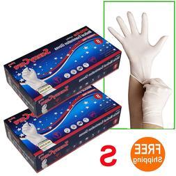 200 /2boxes White Nitrile Medical Exam Gloves Powder Free