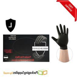 200 Black Powder-Free Nitrile Medical Exam Gloves 5 Mil Thic
