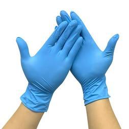 200-box Nitrile Gloves Powder Free Exam BLUE 50-100pcs Small