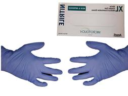 200 Count! Blue Nitrile Gloves by Microtouch, Non latex,  Ex