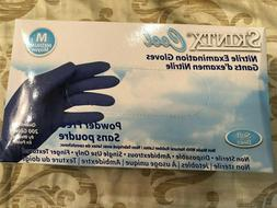 200 COUNT - MEDIUM - SKINTX Disposable Blue Nitrile Gloves