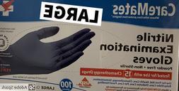 100 Nitrile gloves EXAM-Caremates- Powder free, latex free,