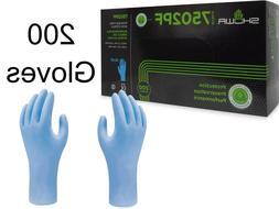 200 per box Blue Nitrile Exam Gloves by Showa, Latex-Free, S