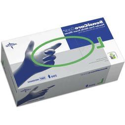 2500 MEDLINE SensiCare Ice Blue Nitrile Exam Gloves SIZE LAR