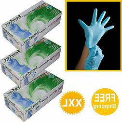 255/3boxes Nitrile Disposable Gloves Powder Free Size: XXL