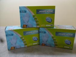 3 box nitrile gloves 50 count per box - one size fits all la