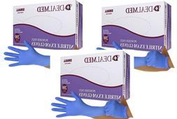 3 BXs Dealmed Nitrile Medical Grade Exam Gloves Disposable L