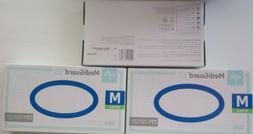 3-Medline MediGuard ES Nitrile Exam Gloves -M Blue Transluce
