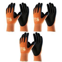 3 Pack MaxiFlex® Ultimate® 34-8014 HI-VIS Orange Nitrile G