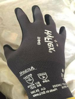 3 pair Ansell HyFlex 11-840/11-841 Foam Nitrile Gloves Size
