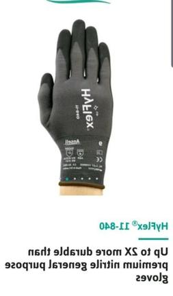 3 pair Ansell HyFlex 11-841 Foam Nitrile Gloves Size 7 Small
