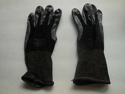 *3 Pairs Black Atlas 370 Nitrile Gloves  Garden Auto Work Pa