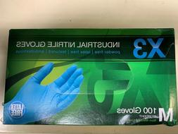 300 AMMEX X3 Nitrile Industrial Latex Free Disposable Gloves
