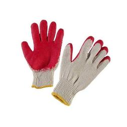 G & F 3106 String Knit Latex Dipped Gloves in Economical Gra