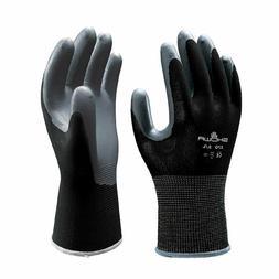 Atlas 370B Black Nitrile Coated Work Gloves Size Large 8 12
