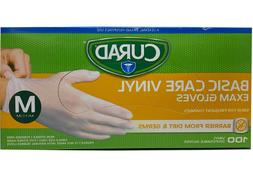 Curad 3G Vinyl Exam Gloves Small, Medium or Large. 100 CTS.