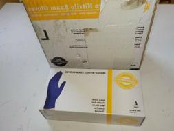 4 BOXES SMINE4L SIZE LARGE Indigo Nitrile Exam Disposable Gl