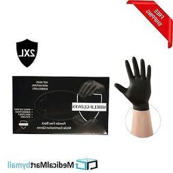 4 Mil Black Nitrile Gloves Medical Exam Powder-Free  2XL 200