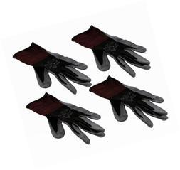 4 Pack Showa Atlas 370BLK Nitrile Tough Gloves - Small