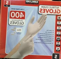 400 KIRKLAND Multipurpose Nitrile Exam GLOVES Small Powder L