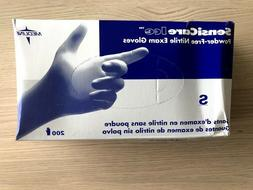 Medline 486801 Sensicare Ice Powder Free Nitrile Exam Gloves