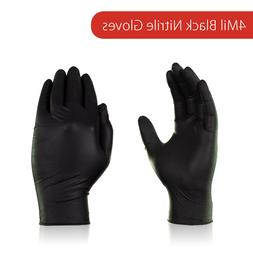 Ammex 4Mil Latex free Black Nitril Gloves