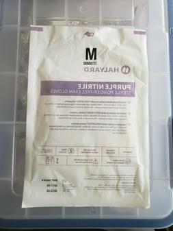 4x Halyard Health Purple Nitrile Exam Gloves Medium Separate