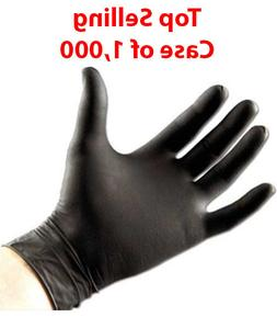 5 MIL THICK BLACK NITRILE GLOVES BY SAFETY ZONE 1 CASE MEDIC