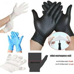 50/100 PE PVC Nitrile Blue Rubber Cleaning Gloves Powder Fre