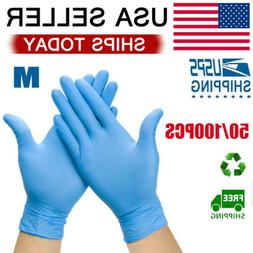 50-100Pcs Workshop Comfortable Mechanic Nitrile Gloves Clean