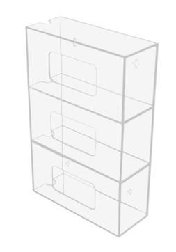 TrippNT 50826 Clear Acrylic Triple Side Loading Glove Box Ho