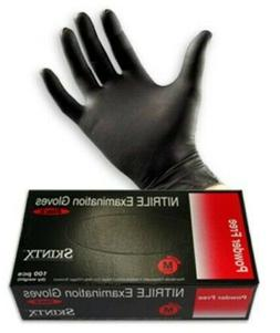 2box, MEDICAL GRADE SKINTX BLACK Nitrile Powder-Free, Hospit